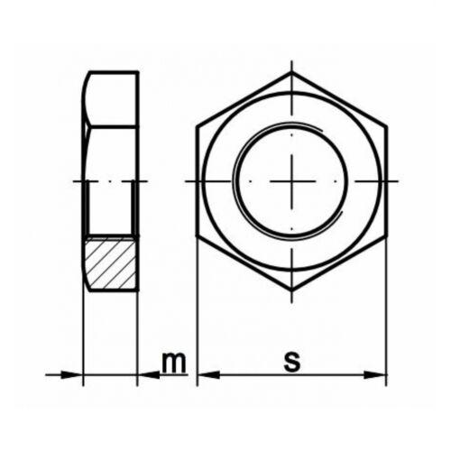 """5x DIN 431 Rohrmuttern 1//4/"""" A4 blank"""