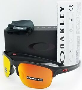 eb33bb90019 NEW Oakley Sliver Edge sunglasses Matte Black Prizm Ruby AUTHENTIC ...