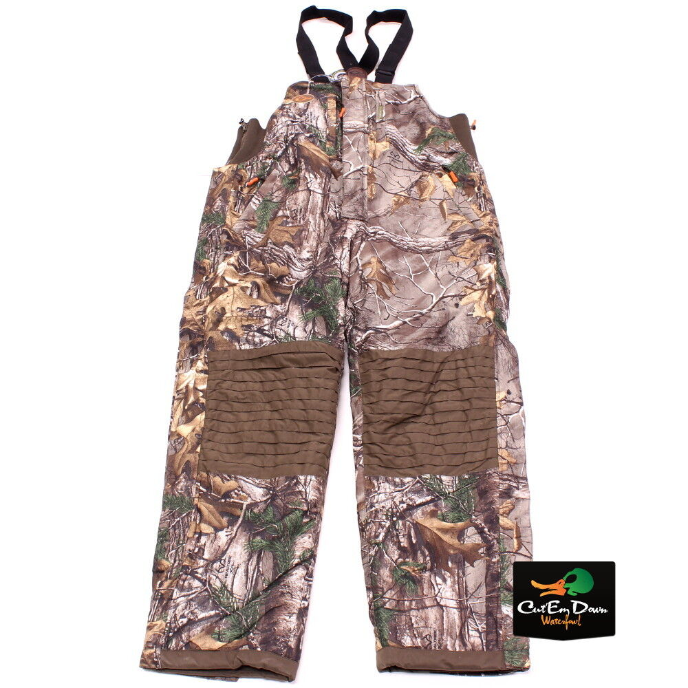 DRAKE WATERFOWL NON-TYPICAL STORM BIBS SHERPA FLEECE LINED XTRA CAMO LARGE