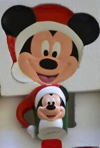 Details About Disney Mickey Mouse Candy Cane Christmas 2000 Cookies Milk For Santa Plate Mug