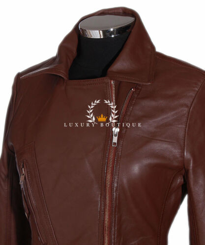 Jakke Læder Real Retro Biker Brown Sheep Ladies Fashion Style Hillary Soft RwqzfYvw