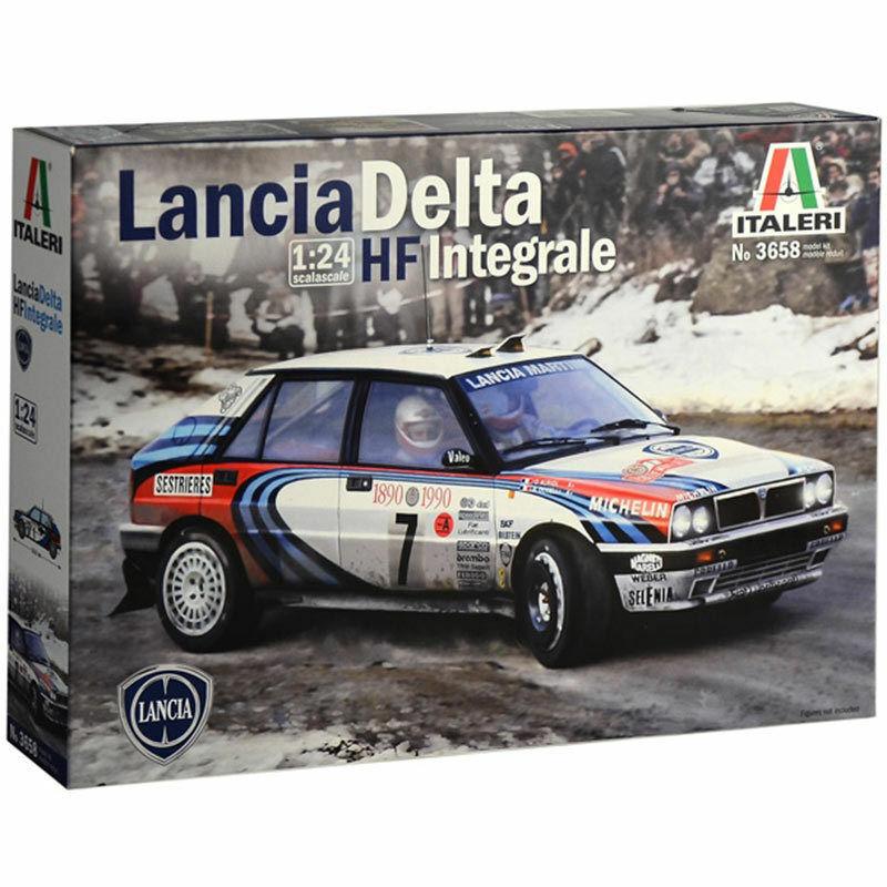 Lancia HF Integrale - 1 24 Car Model Kit - Italeri 3658