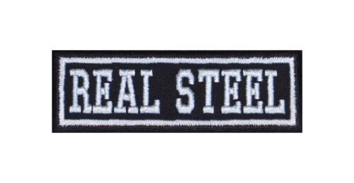Real Steel Biker Patch ricamate moto MC Rocker STAFFA immagine tonaca HEAVY IRON