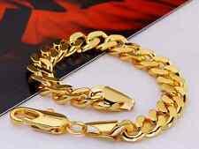 Armband 22cm  Damen Herren gold Herrenarmband Panzerkette Panzerarmband goldfar