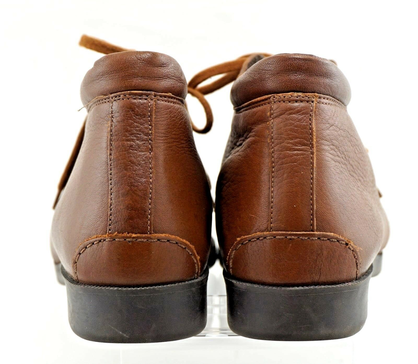 Selby Active Moc Moc Active Fit Handcrafted Solid Brown Block Heel Ankle Boots 11N 1c0072
