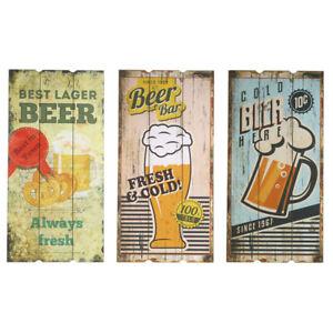 Wandschild-Holz-Wand-Deko-Schilder-60-x-30-cm-Bier-Beer-Maenner-Kneipe-Bar-Pub
