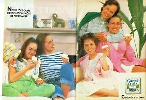 Publicite-Advertising-320-1986-Grevais-fromage-Carre-frais-brut-2-pages