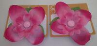Set Of 2 Croc Shoe Accessory Charms Foyo Girls Garden Pink Petals Flower