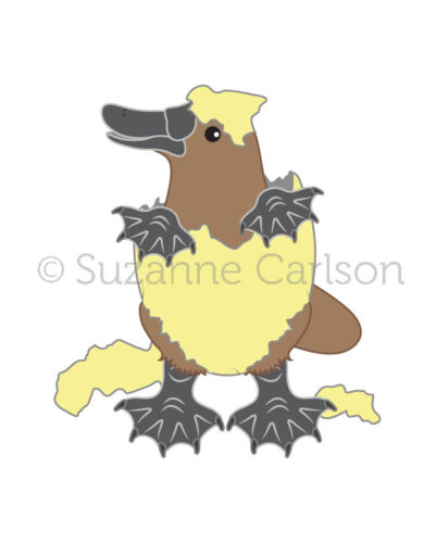 One - Baby Platypus Signed Print Artwork 1 You Choose Size and Egg Color