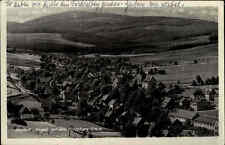 Neudorf Erzgebirge DDR Postkarte 1952 gelaufen Gesamtansicht mit dem Fichtelberg