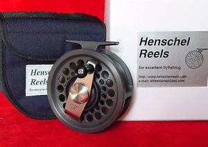 Henschel-Anti-Reverse-3-Linie-9-10-Schwarz-amp-Silber-Saltwater-Fly-Reel-lachs