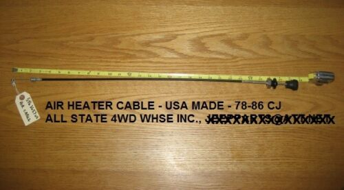 USA MADE 1978-1986 JEEP CJ HEATER AIR CONTROL CABLE 5463657
