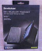 Brookstone Mini Bluetooth Keyboard With Tech-weave For Ipad Mini Tablet black