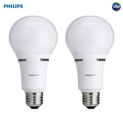 Led Bulb Philips 3 Way Pack Of 2 Pieces 40 60 And 100 Watt Equivalent Soft White 46677459185 Ebay