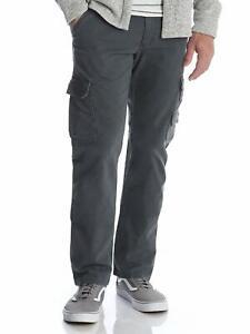 Men-s-New-Wrangler-Cargo-Trousers-Regular-Taper-Pants-Size-30-034-to-42-034-Dark-Grey