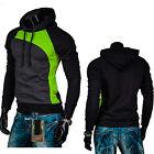 Men's Long Sleeve Slim Hoodie Sweatshirt Pullover Jumper Hooded Coat Outwear Top