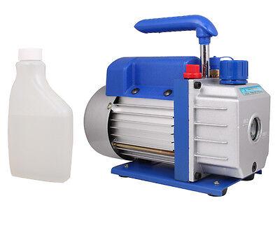 3 CFM 1/4HP Rotary Vane Deep Vacuum Pump AC A/C HVAC Air Refrigerant R410a R134