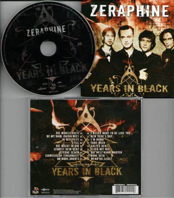 Zeraphine ‎– Years In Black  CD Compilation2007