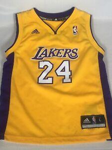Rare VTG Kobe Bryant #24 Los Angeles Lakers Adidas Kids Jersey ...