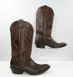 327bee9c437 Details about Men's Nocona Brown Lizard Leather Cowboy Western Boots Size:  7.5 EE *EXTRA WIDE*