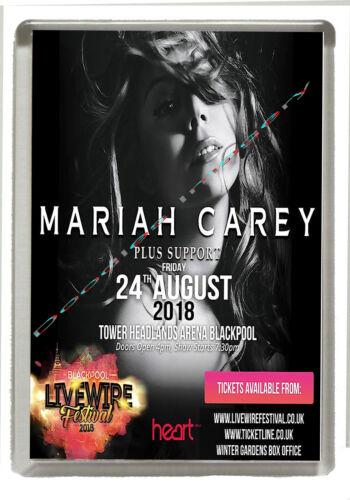 Blackpool Livewire Festival 2018 Mariah Carey Fridge Magnet 90 mm x 60 mm