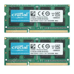 Crucial-8GB-kit-2X4GB-1333Mhz-For-Apple-2010-Mid-Mac-mini-A1347-Memory-Ram