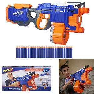 Image is loading NERF-N-Strike-Elite-Hyper-Fire-Machine-Gun-