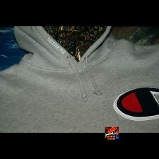 Supreme Champion Paisley Hooded Sweatshirt Heather Grey Extra Large XL hoodie