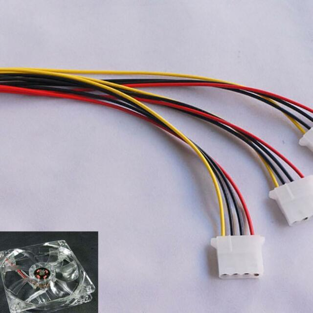 Pro 4 Pin IDE 1-to-3 Y Splitter Exentsion Cable Cord Molex IDE Power Supply U7I6