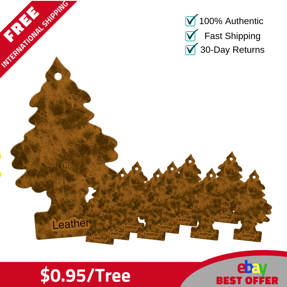 120 Little Trees Hanging Air Freshener Leather Trees Magic Scent- 0.95 tree