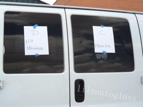 D Fit 03-18 GMC Savana Passenger Side Rear Hinged Door Window Glass Stationary