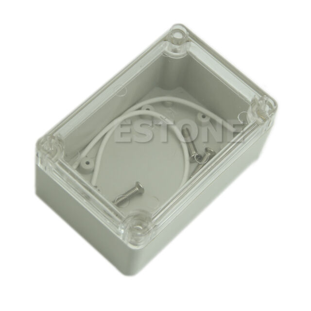 100x68x50mm Waterproof Clear Cover Plastic Electronic Project Box Enclosure Case