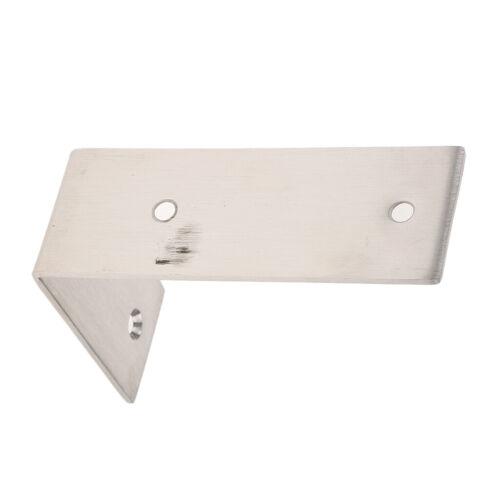 Screw in Stainless Steel Floating Shelf Bracket Corner Brace Support-125 x 85mm
