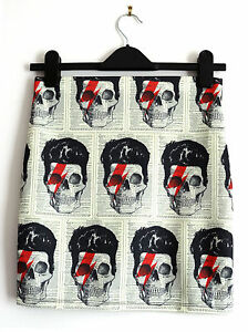 David-Bowie-Skull-Skirt-Size-8-10-12-14-16-Mini-Bodycon-Alternative