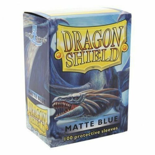 Dragon Shield Standard Mat Card Game Character Sleeves Blue 100 COUNT Sealed New