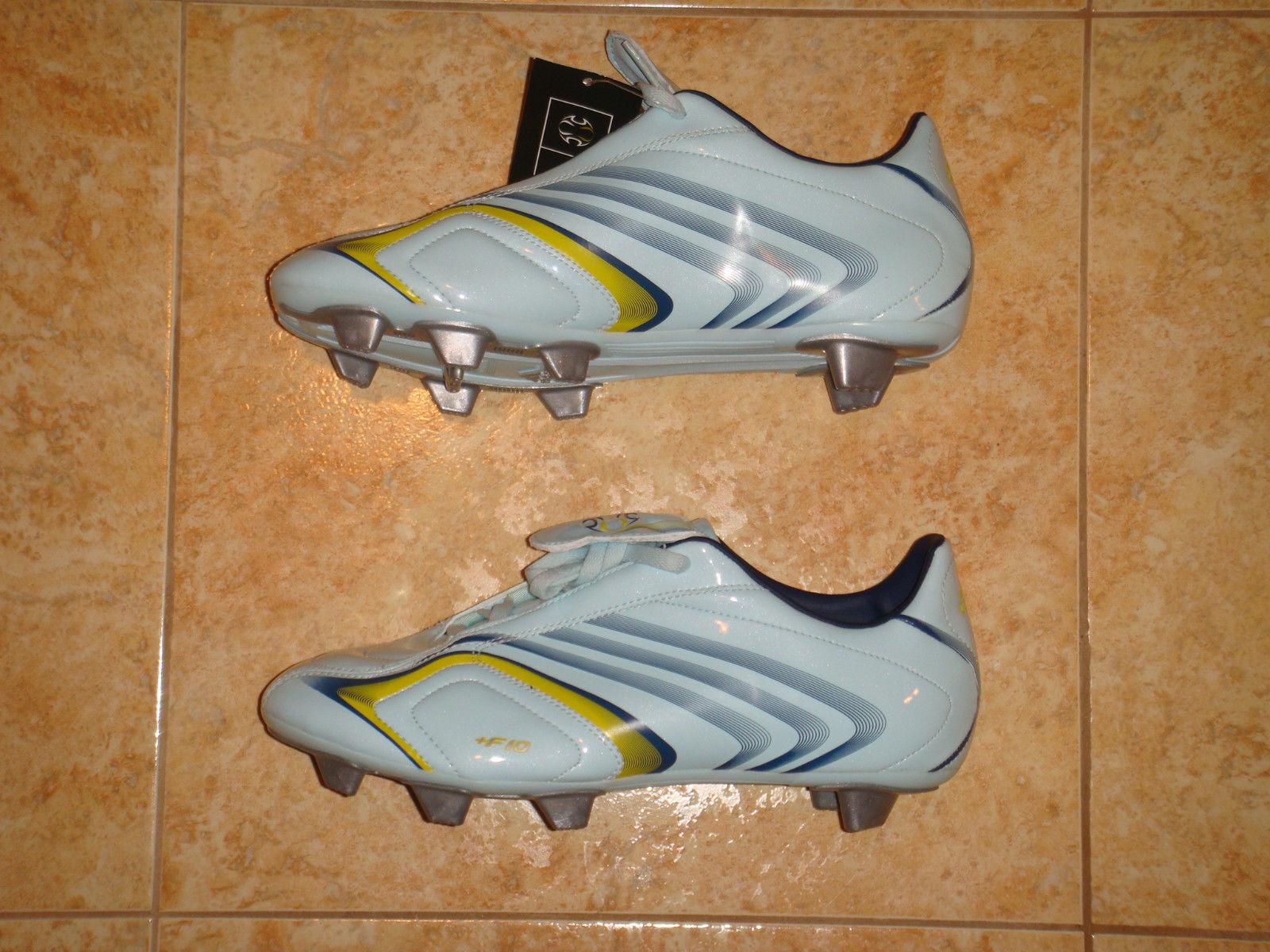 botas De Fútbol Adidas F10.6 F 10 Fútbol Zapatos terreno blando Junior Nuevo Reino Unido 5