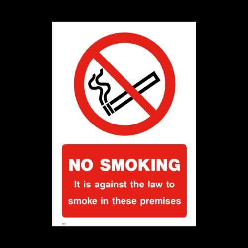 diritto NON FUMARE SEGNALE ADESIVO-Tutte le Taglie e materiali locali MISC9 contro