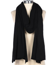 $32.99 SALE FLUXUS NOMAD SCARF BLACK SCARF WRAP SHAWL COTTON MADE IN USA UNISEX