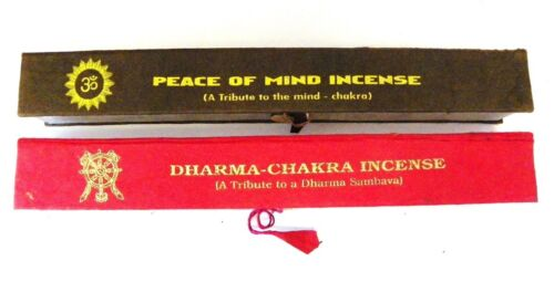 R404 Hand Rolled Tibetan Peace of Mind and Dharma Chakra Incense Made in Nepal