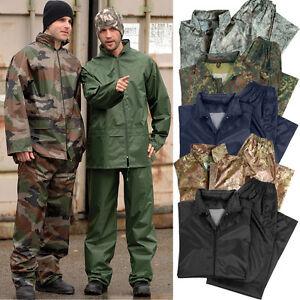 Impermeable-Bw-Army-S-4XL-Tarn-PVC-Chaqueta-Pantalon-de-Lluvia-Combi