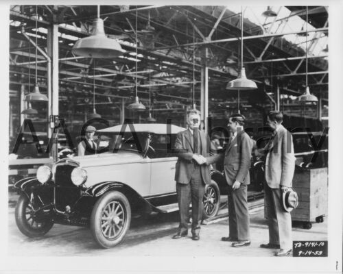 Ref. #67121 Factory Photo 1929 Plymouth U Roadster on Assembly Line Picture