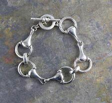 "Classic Ralph Lauren 8"" Horsebit Link Toggle Clasp Bracelet"