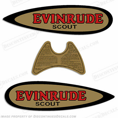 Evinrude 1937-1941 .9hp Scout Decal Kit Discontinued Decal Reproductions!