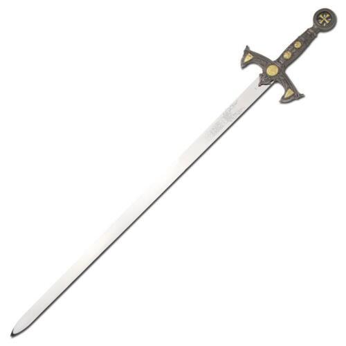 Medieval Century Templar Knight Crusader Sword With Wall Plaque SI16904//GA1