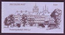 DDR: Markenheftchen Nr. 10 Bauwerke und Denkmäler, gestempelt 19.11.90 Erfurt.