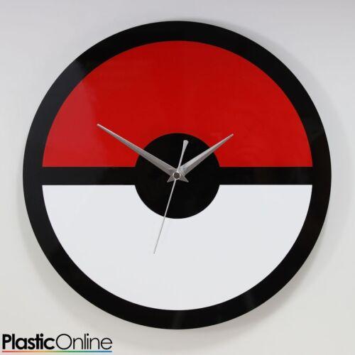 Custom Designed Pokemon Inspired Wall Clock Pokeball Superhero Fan Art