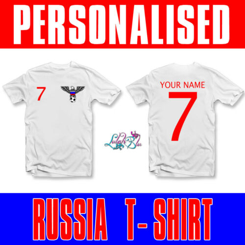 Kids Personalised Russia 2019 T-ShirtPersonalised World Cup Football Top