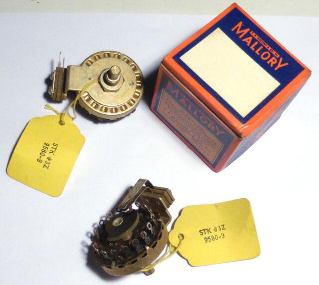 Commutateur à galette contacts argentés 1 x 18 positions NOS NIB USA Mallory