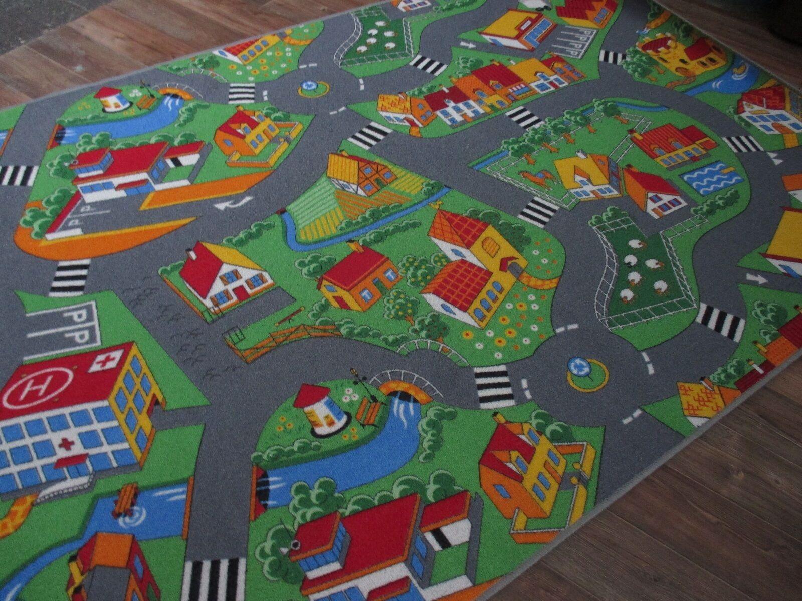 Günstig 24 Stunden Sale Spiel Kinder Kinder Kinder Teppich Straßen  4 Designs diverse Größen | Die Farbe ist sehr auffällig  e7443d