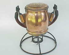 Antique Electric Lantern Co GENESY Copper Battery Lantern Magnifing Glass 1938?